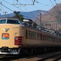 写真: 189系M51編成ホリデー快速富士山@小名路踏2切