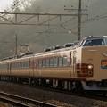 写真: 189系M51編成ホリデー快速富士山@小名路踏切
