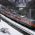 Photos: 冬の諏訪峡を行く115系湘南色1