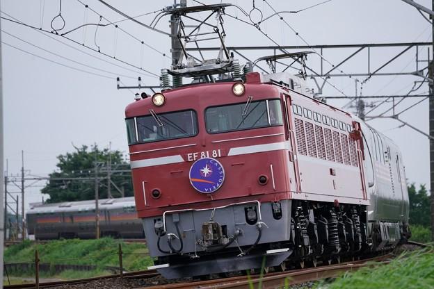 EF81-81牽引カシオペア紀行@水沢踏切