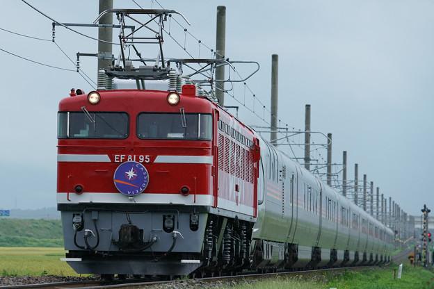 Photos: EF81-95牽引 ゆったり東日本周遊カシオペア紀行@岩船町~村上