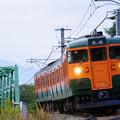 Photos: 115系S3編成湘南色@川中島~安茂里
