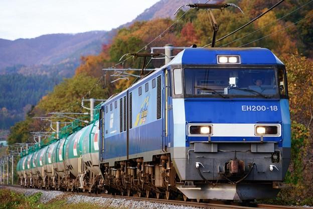 5463レ EH200-18+タキ@桑ノ原ストレート