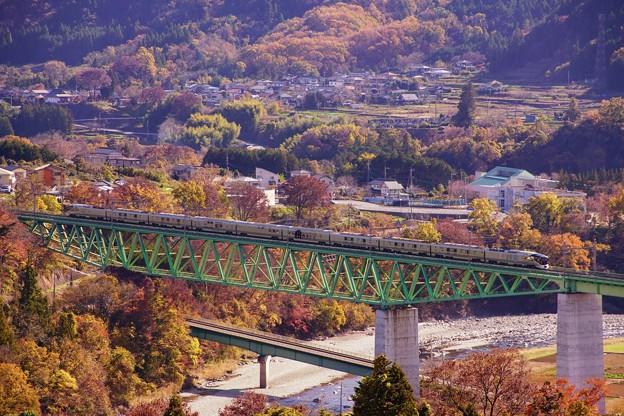 TRAIN SUITE 四季島@新桂川橋梁俯瞰