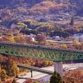 写真: TRAIN SUITE 四季島@新桂川橋梁俯瞰
