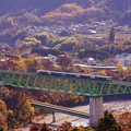 Photos: E257系ホリデー快速富士山@新桂川橋梁俯瞰