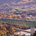 Photos: E257系特急あずさ@新桂川橋梁俯瞰1