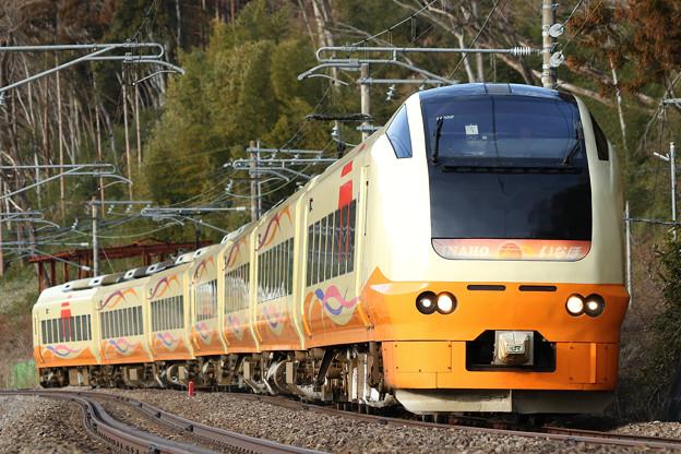 回9734M E653系U-102 団臨送り込み@上牧~後閑
