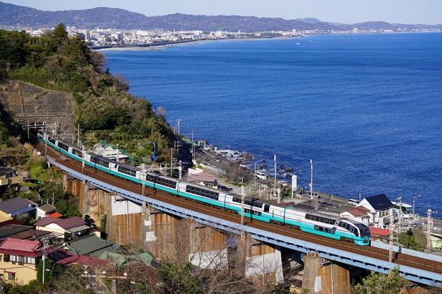 251系スーパービュー踊り子@石橋鉄橋