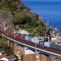 Photos: 1097レ EF66-27+コキ@石橋鉄橋1