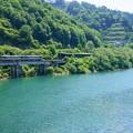 Photos: 只見線小出口キハ40系@田子倉湖