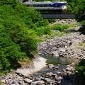 只見線小出口キハ40系@田子倉トンネル