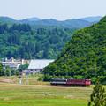 Photos: 只見線小出口キハ40系@入広瀬俯瞰2