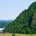 只見線小出口キハ40系@入広瀬俯瞰3
