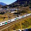 Photos: E257系特急かいじ70号@初狩俯瞰