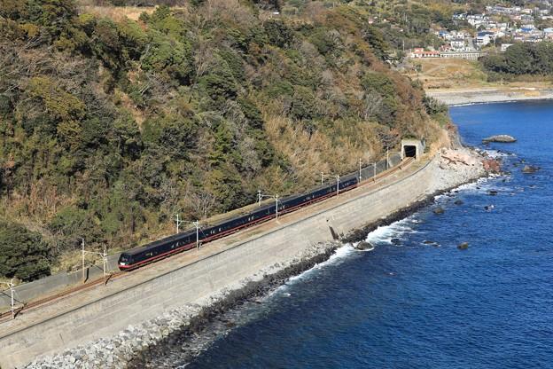 2100系黒船電車@稲取俯瞰