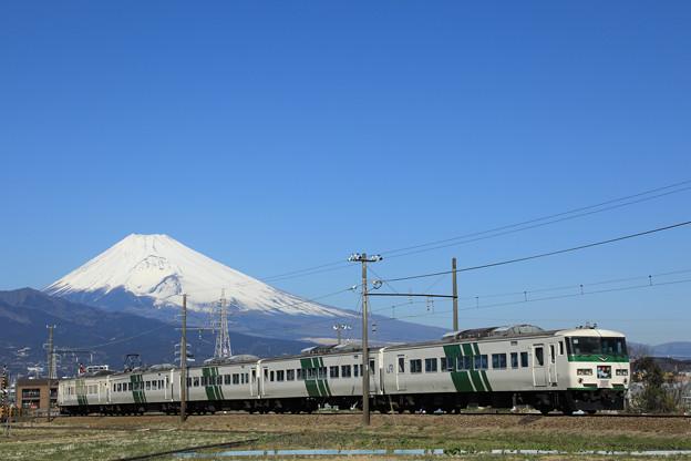 185系「踊り子3号」富士山バック@いずっぱご