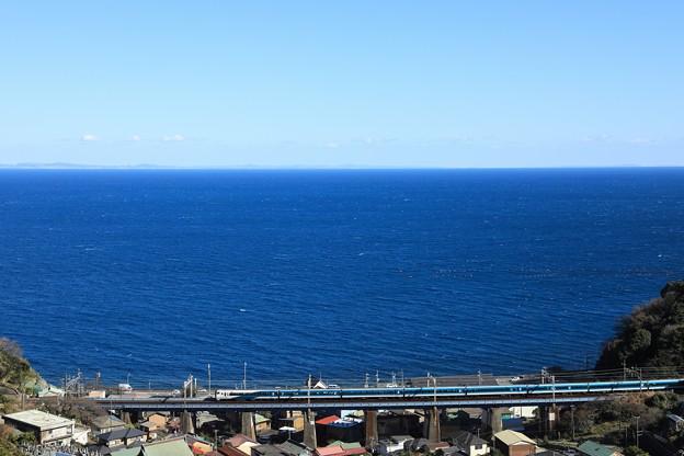 E257系踊り子@石橋最上段俯瞰