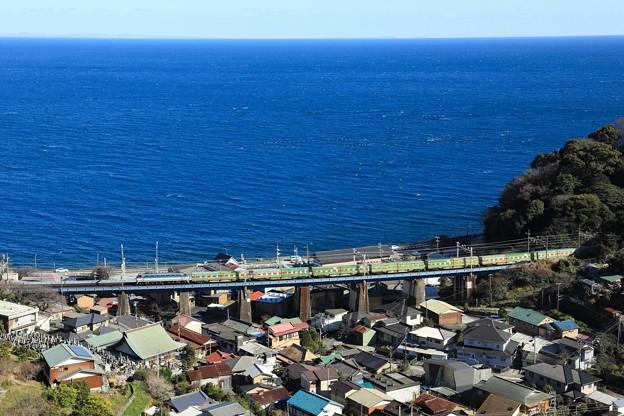 54レ EF66-111牽引 福山レールエクスプレス@石橋最上段俯瞰