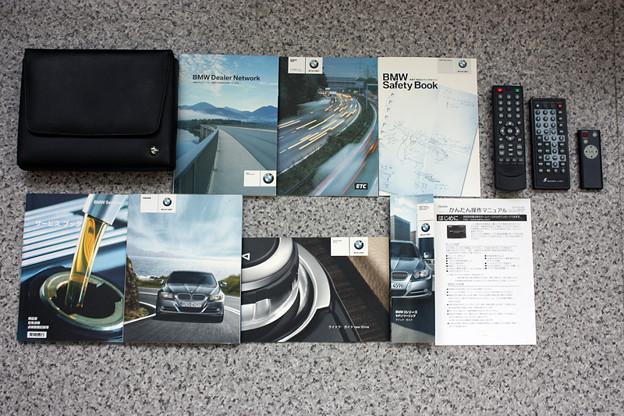 取説、整備手帳、記録簿、地デジ インターフェイス DVD リモコン