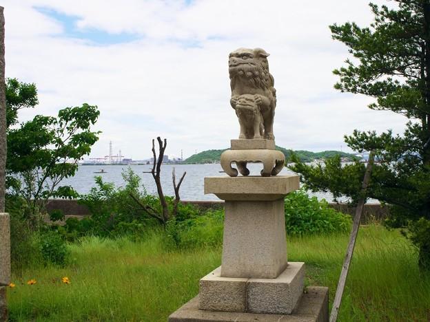 写真: 海辺の神社