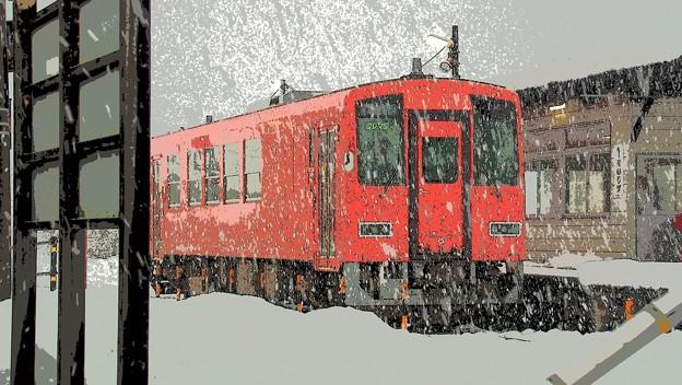 雪の出雲横田駅