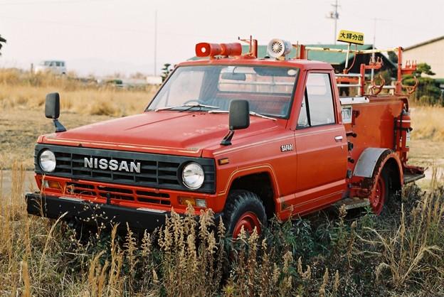 消防車の廃車体