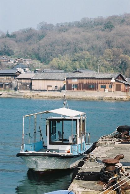 沖ノ島の渡船場にて
