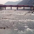 揖保川の鉄橋を行く822レ