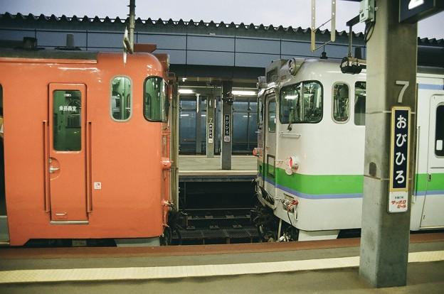 帯広駅にて