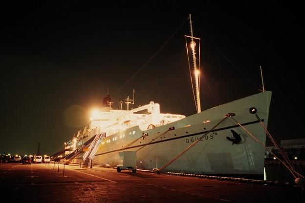 夜の新港ふ頭にて