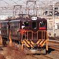 久喜駅構内で転線中のED5081+5083