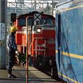 機関車交換する「出雲」