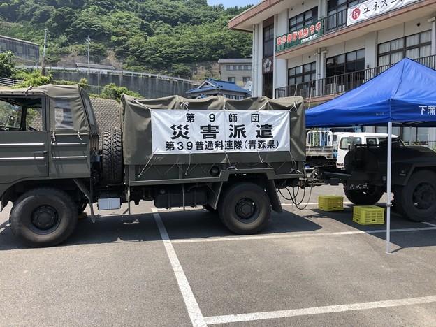陸上自衛隊の給水トラック