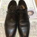 Photos: 洋服の青山で購入した革靴のプレーントゥ
