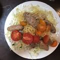Photos: おふくろが作ったトマトとパスタのサルシッチャのイタリアンソーセージ