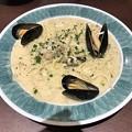 Photos: 鎌倉パスタの広島産牡蠣とムール貝のチャウダー風パスタ