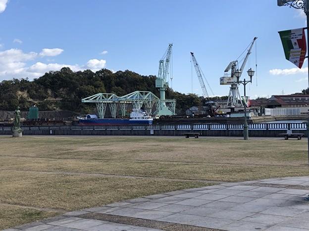 尾道市の造船所