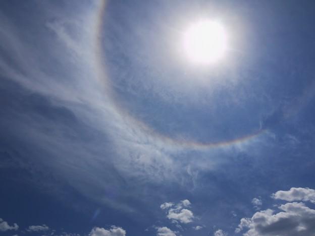 またも彩雲状暈雲 2009.5.20  12h37mi(2)