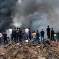 写真: 温州で爆発炎上 見物客100人 (1)