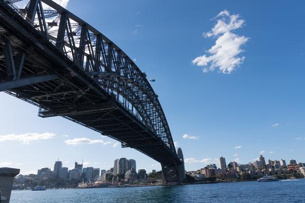 シドニー観光(ドーズポイントパーク)【下から見上げるハーバーブリッジ】