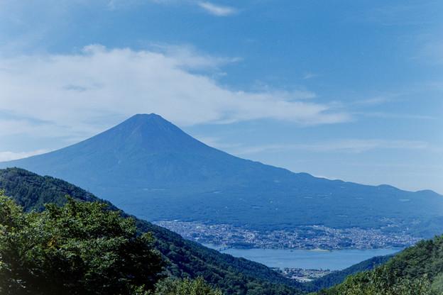 富士五湖巡り【峠の茶屋から見る富士】6