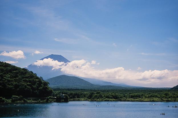富士五湖巡り【精進湖から見る富士】4