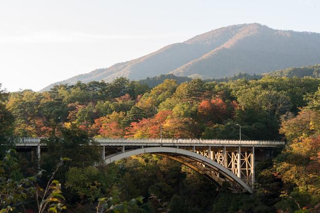 東北紅葉狩り【鳴子峡:大深沢橋】2