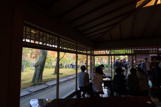 箱根美術館【富士見亭内から見た庭園】