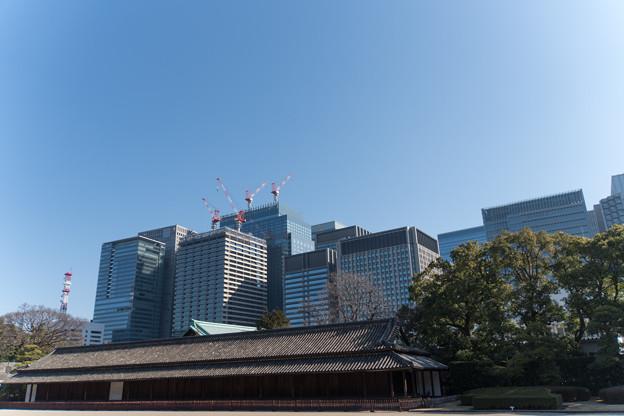 Photos: 皇居東御苑【大手町の町並み】