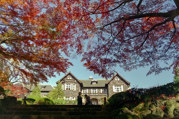 旧古河庭園【洋館と紅葉】2銀塩