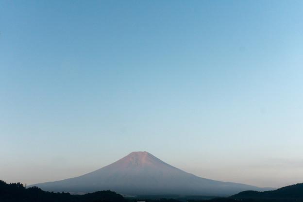 Photos: GoToTravel山梨旅行【朝の赤富士】~鐘山苑より