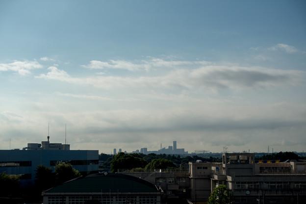 早朝ウォーキング【川和富士公園:みなとみらい方面】