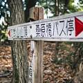 Photos: 20210104 阿武山の標識 山頂